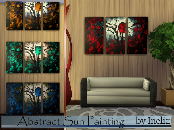 The Sims Resource: Abstract Sun Painting by Ineliz