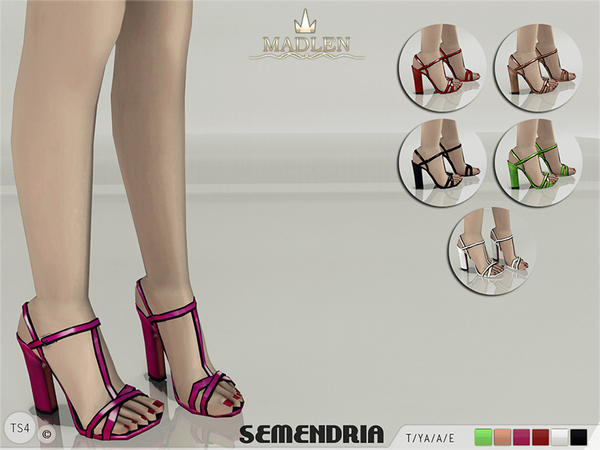The Sims Resource: Madlen Semendria Sandals by MJ95