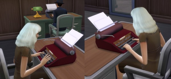 Mod The Sims Vintage Typewriter By Esmeralda Sims 4
