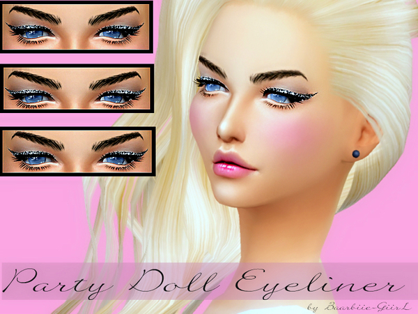 The Sims Resource: Party Doll Eyeliner by Baarbiie Giirl