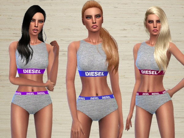 The Sims Resource: Diesel Lingerie by Puresim