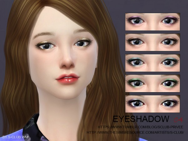The Sims Resource: Eyeshadow 04 by S Club