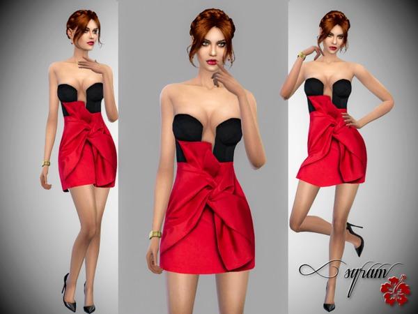 The Sims Resource: Taffeta Dress by EsyraM