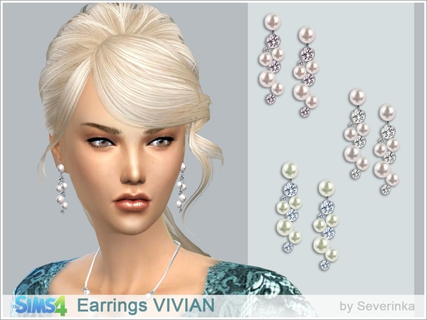The Sims Resource: Earrings Vivian by Severinka