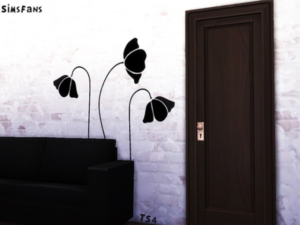 Sims Fans: Flowers Wall Sticker by Melinda