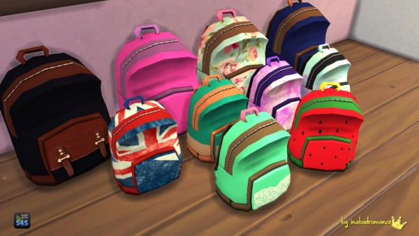 In A Bad Romance Matching Backpacks Amp Shelfs Sims 4