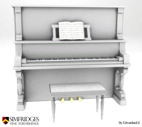 Mod The Sims: Chimeway & Daughters Saloon Piano by edwardianed