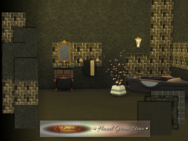 The Sims Resource: Hazel Green Stone by Emerald