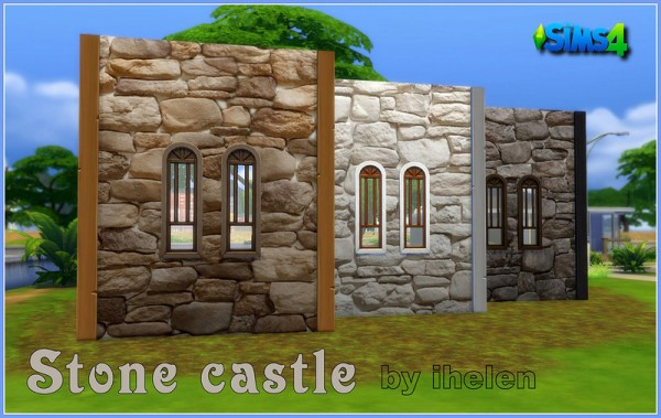 Ihelen Sims Stone Castle Walls Sims 4 Downloads