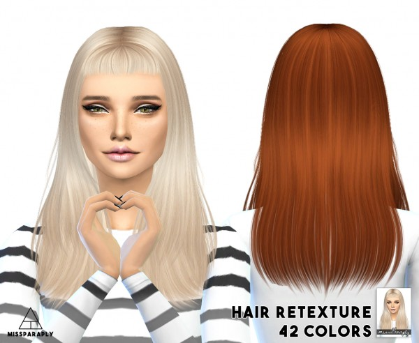 Miss Paraply: Hair retexture   Sintiklia Still into you   42 colors