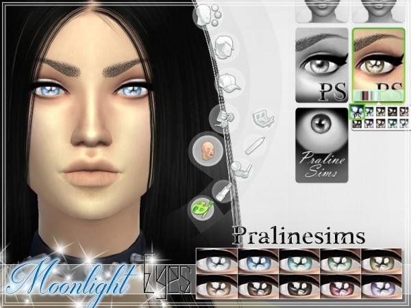 The Sims Resource: Moonlight Eyes by Praline Sims