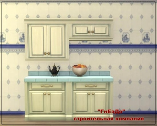Sims 3 by Mulena: English Delft tiles