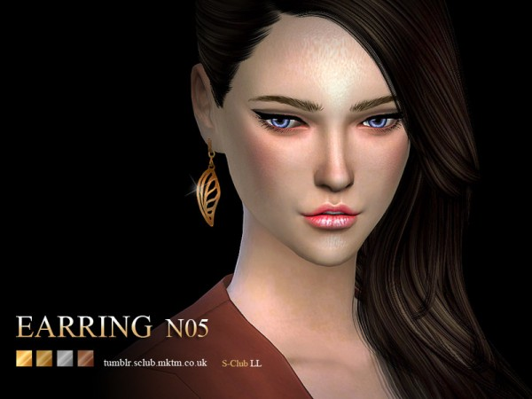 The Sims Resource: Earring 05 by S Club