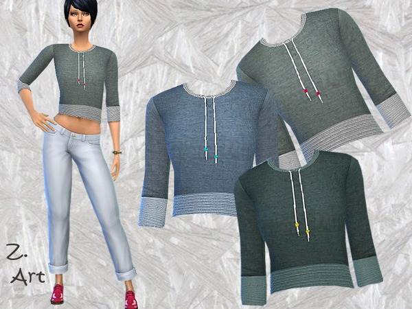 The Sims Resource: Simple Sweater by Zuckerschnute20