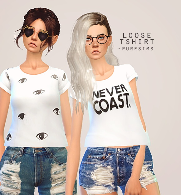 Pure Sims: Loose t shirt