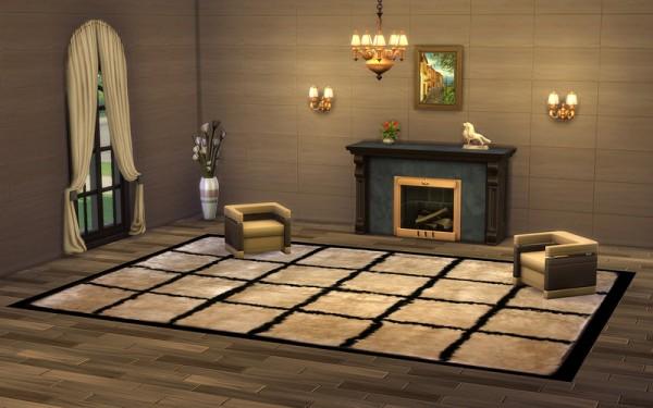 Ihelen Sims: Fur mosaic rugs
