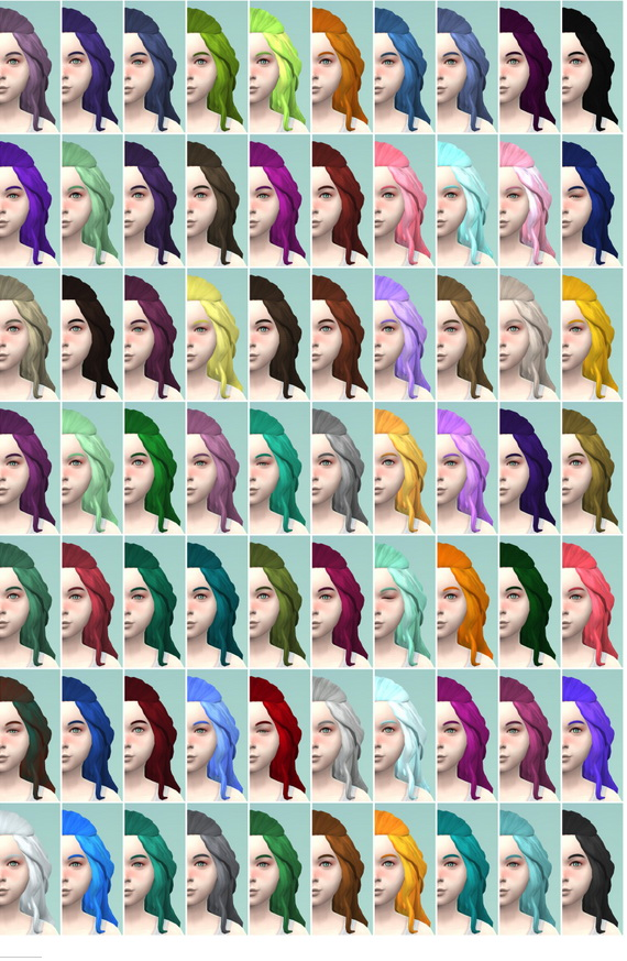 The simsperience: 70 Matching Berry Recolors for Girls