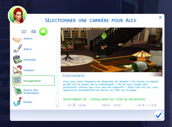 Mod The Sims: Education Career by OhMy