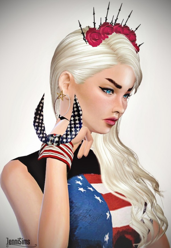 Jenni Sims: Dress Skull Flag , Bracelet Flag Bandana