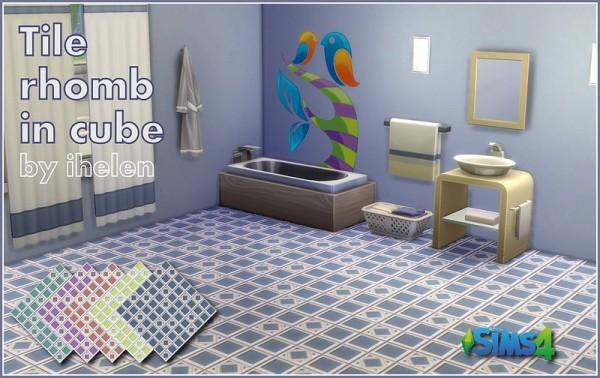Ihelen Sims: Tile Rhomb in cube