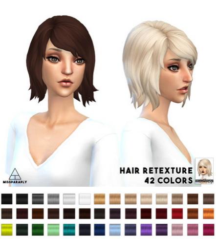 Miss Paraply: Hair retexture   EA bobShaggy   42 colors