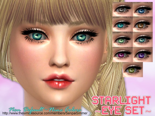 The Sims Resource: Starlight Eye Set by SenpaiSimmer
