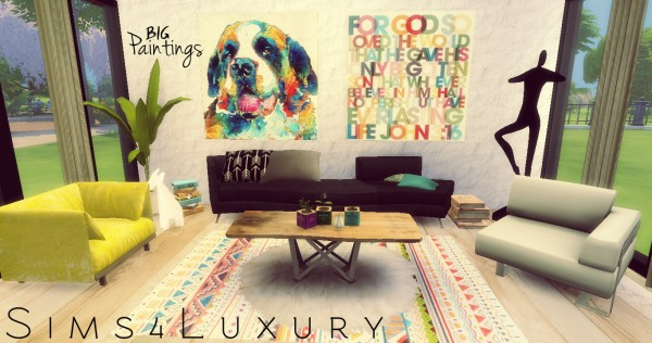 Sims4Luxury: Big Paintings