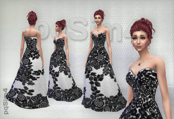 PQSims4: Long Dresses Lace