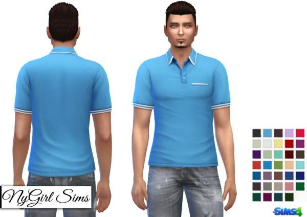 NY Girl Sims: White Striped Polo V2