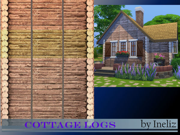 The Sims Resource: Cottage Logs by Ineliz