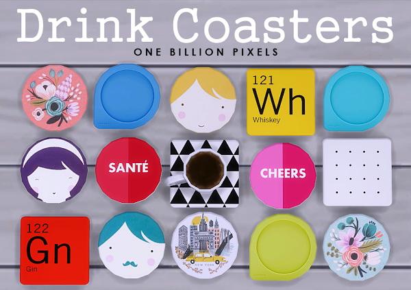One Billion Pixels: Coaster Drinks