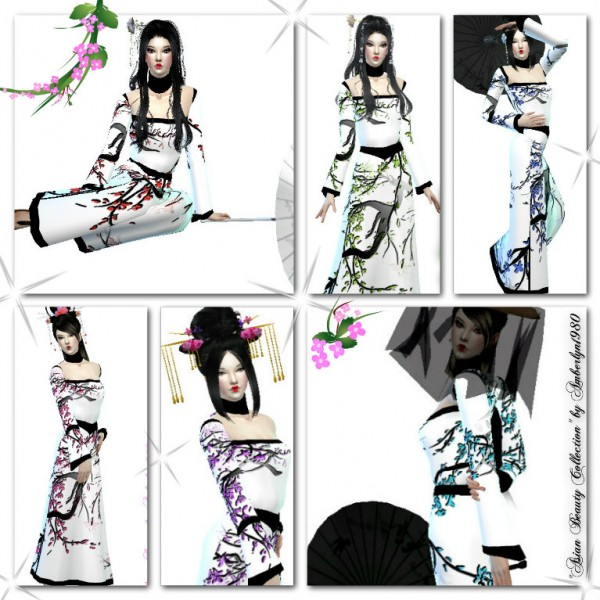 Amberlyn Designs Sims Asian Beauty Collection Hairstyle