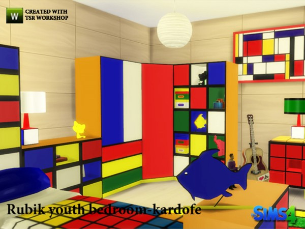 The Sims Resource: Rubik youth bedroom by Kardofe