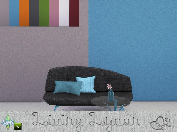 The Sims Resource: Lycon Wall Set by BuffSumm