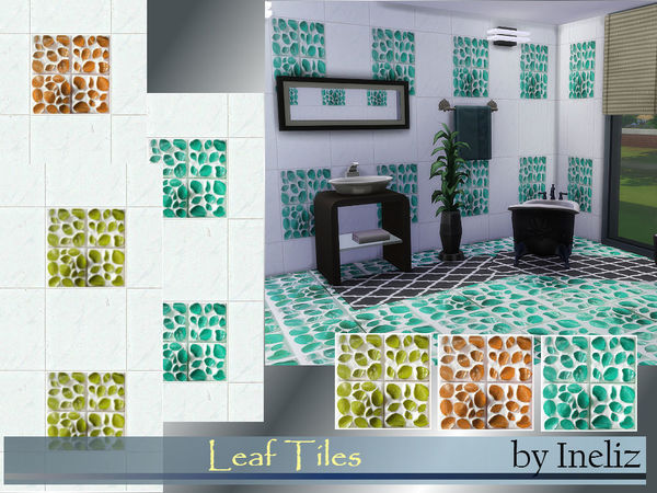 The Sims Resource: Leaf Tiles by Ineliz