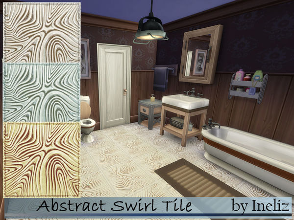 The Sims Resource: Abstract Swirl Tile by Ineliz
