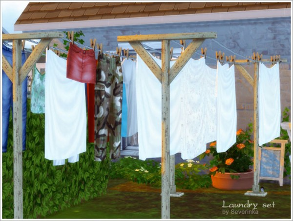 Sims By Severinka Laundry Set Sims 4 Downloads
