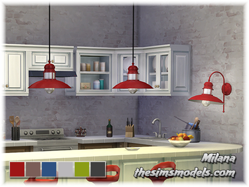 The Sims Models: A set of lamps