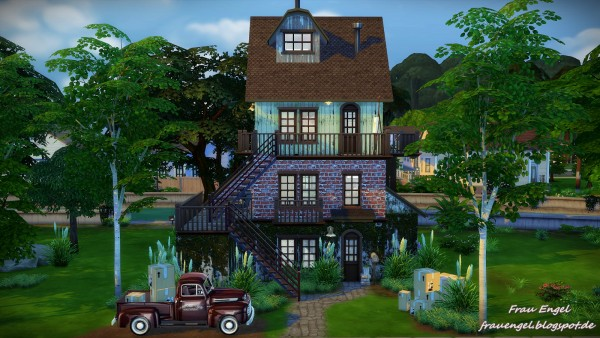 Frau engel old lane sims 4 downloads for Classic house sims 4