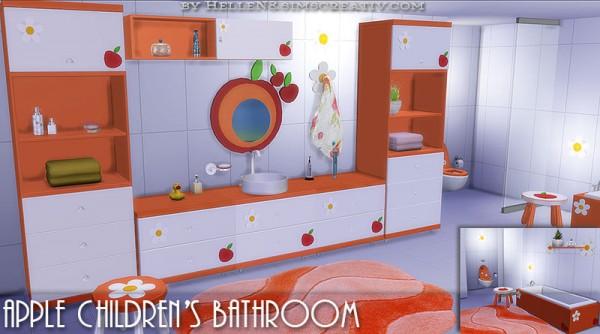 Sims Creativ: Apple Children's bathroom by HelleN