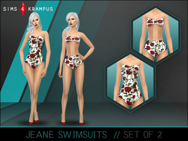 The Sims Resource: Jeane Swimsuits by SIms4Krampus