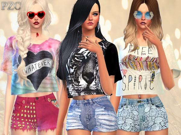 The Sims Resource: Intense Heat Set by Pinkzombiecupcake