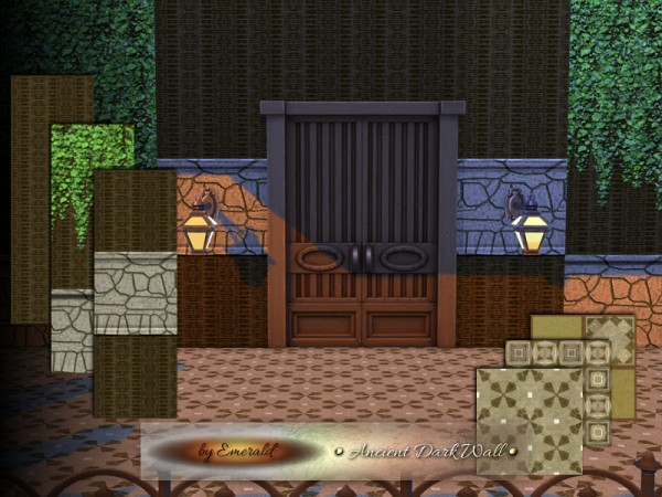 The Sims Resource: Ancient Dark Wall by emerald