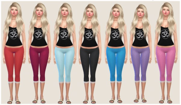 Simlife: Cropped Leggings