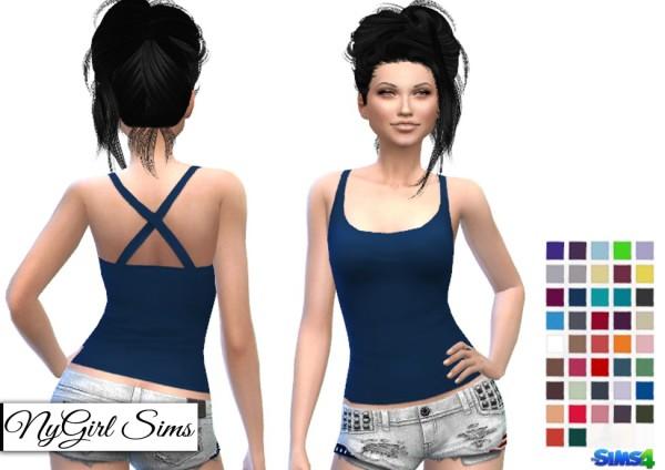 NY Girl Sims: Cross Back Tank