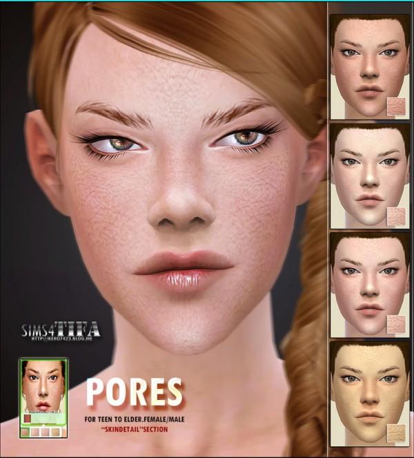 Tifa Sims: Pores skin details