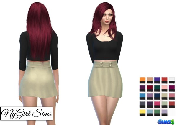 NY Girl Sims: Belted Scoop Neck Dress