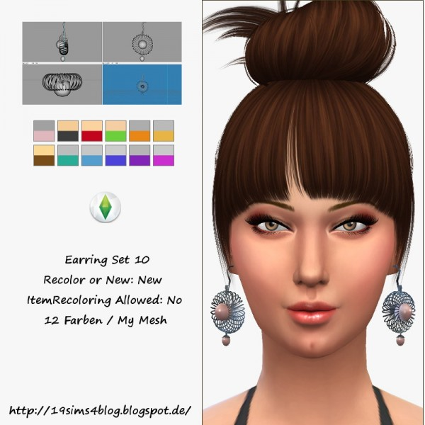 19 Sims 4 Blog: Earring Set 10