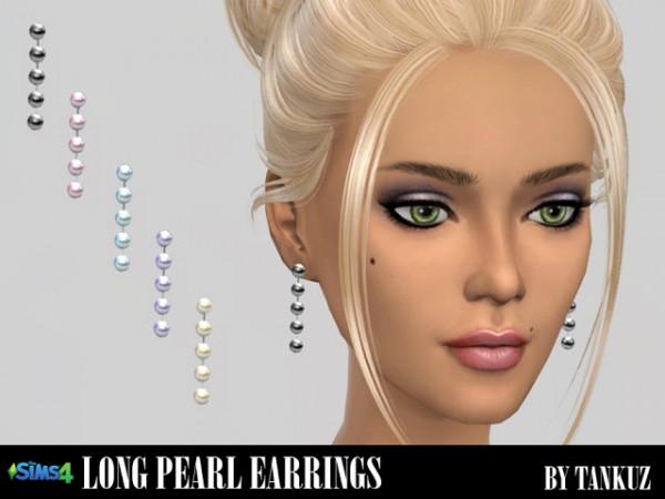 Tankuz: Long pearl earrings