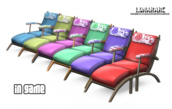 Lunararc sims luana lounge chair sims 4 downloads for Chaise game free download